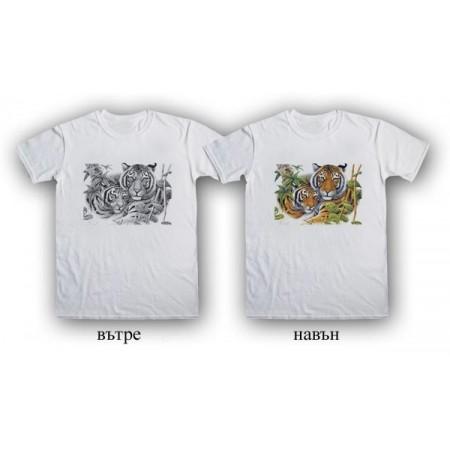 """Соларна тениска """"Два тигъра"""", мъжка"""