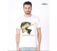 Соларна тениска Риба - Лаврак , мъжка