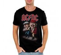 Мъжка тениска AC/DC cartoon, черна