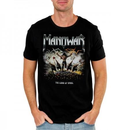 Мъжка тениска Manowar The Lord of Steel, черна