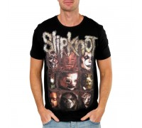 Мъжка тениска Slipknot masks, черна