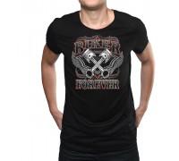 """Тениска с надпис """"Колоездач завинаги"""",мъжка"""