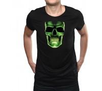 """Тениска """"Неонов череп"""", малка щампа,мъжка"""