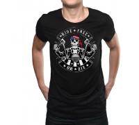 """Тениска с надпис """"Ride free or die"""" ,мъжка"""