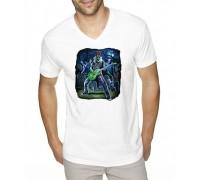 """Тениска с надпис """"Рокерско зомби"""" ,мъжка"""
