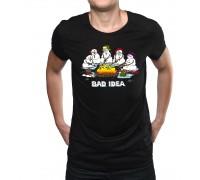 """Тениска """"Лоша идея"""", мъжка"""
