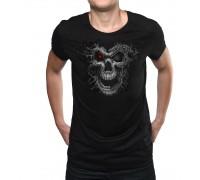 """Неонова тениска """"Cyborg Skull"""", мъжка"""