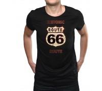 """Тениска с надпис """"Route 66"""" ,мъжка"""
