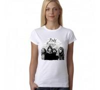 """Дамска тениска с надпис  """"Pink Floyd"""""""