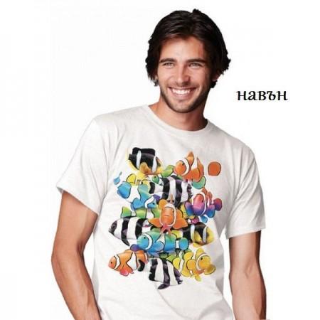 """Соларна тениска """"Риби клоун"""", мъжка"""