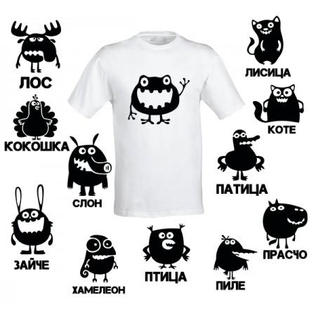 Оригинална тениска с щури животни