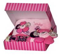 Бебешки сет в подаръчна кутия, за момиче