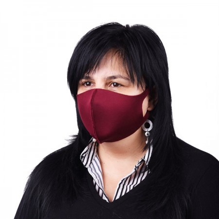 Дамска неопренова маска за многократна употреба, Бордо, Унисекс