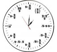 Стенен часовник Математика, d 26 см