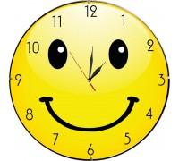 Забавен стенен часовник Усмивка, d 26 см