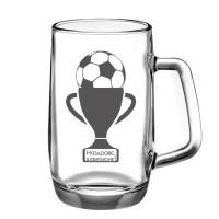 Гравирана халба за бира за футболист, 500 мл