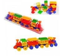 Детски конструктор Локомотив с два вагона