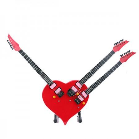 Мини китара Steve Vai (сърце)