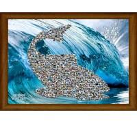Колаж за имен ден Риба, от Ваши снимки, размер А3