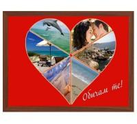 Фотоколаж Сърце с 6 Ваши снимки, размер А3