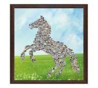 Колаж Изправен кон с Ваши снимки, различни размери