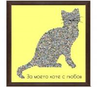 Колаж Коте с Ваши снимки, различни размери