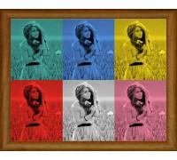 """Колаж """"ПопАрт 6 цвята"""""""
