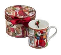 """Коледна чаша """"Дядо Коледа"""", в кутия"""