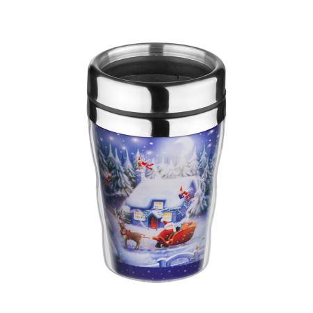 """Термо чаша """"Дядо Коледа на шейна"""""""
