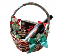 Кошница за подарък за Коледа