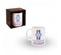 Корпоративна керамична чаша с лого и текст