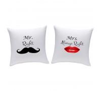 Две възглавнички комплект Mr&Mrs