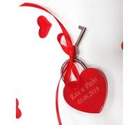 Гравиран катинар Сърце с Вашите имена!