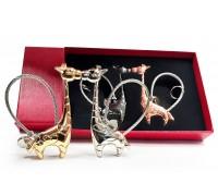Комплект магнитни ключодържатели Жирафи, подаръчна кутийка!