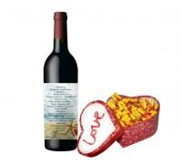 Комплект вино с късмети