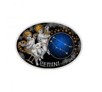 """""""Зодиакални знаци-Близнаци"""", сребърна монета"""