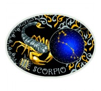 """Зодиакални знаци-Скорпион"", сребърна монета"