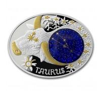 """Зодиакални знаци-Телец"", сребърна монета"