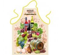 """Забавна престилка за готвене """"Вино"""""""