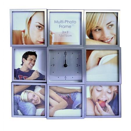 Рамка - часовник с 8 снимки