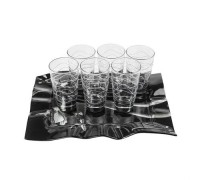 Сет чаши + поднос - Silver Rose