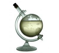 Бутилка глобус, стъклена стойка, 500мл