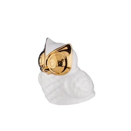 Керамична статуетка ''Бухал злато''