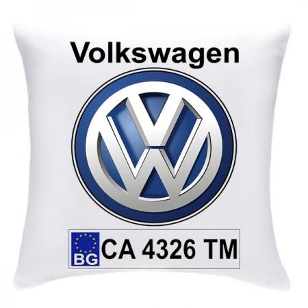 Възглавничка с номера и марката на автомобила, Фолксваген/Мазда/Друго
